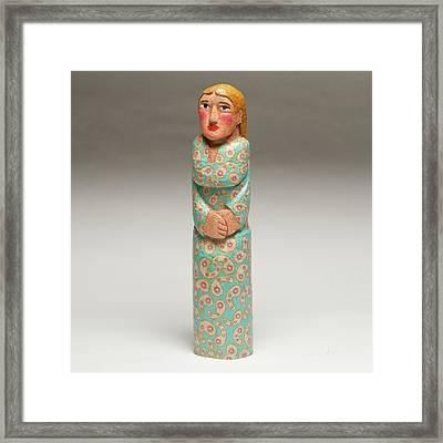 Lady With The Blue Dress On Framed Print by James Neill