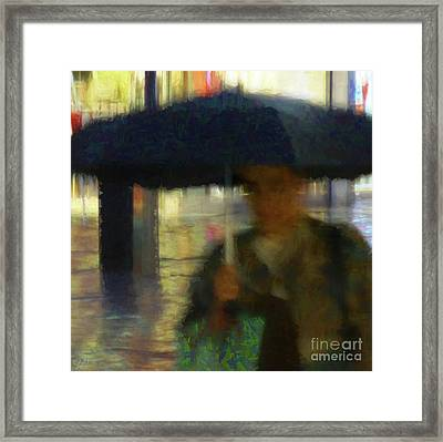 Framed Print featuring the photograph Lady With Umbrella by LemonArt Photography