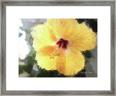 Lady Yellow Framed Print