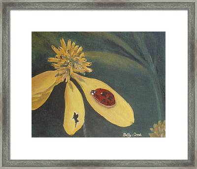 Framed Print featuring the painting Ladybug by Betty-Anne McDonald