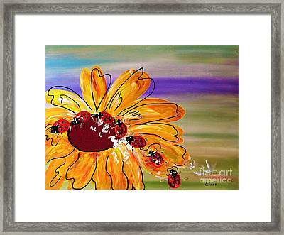 Ladybug Follow The Leader Framed Print