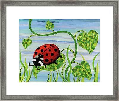 Ladybug Mosaic Framed Print