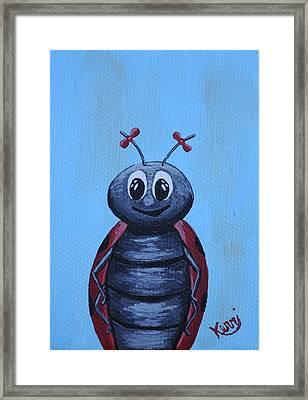 Ladybug's School Picture Framed Print by Kerri Ertman