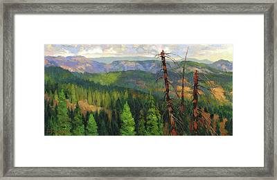 Framed Print featuring the painting Ladycamp by Steve Henderson