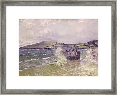 Ladys Cove Wales 1897 Framed Print by Alfred Sisley