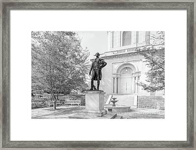Lafayette College Marquis De Lafayette Statue Framed Print