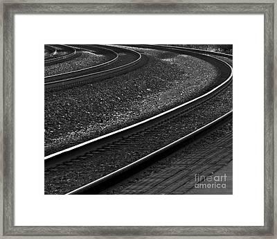 Lafayette Tracks Framed Print by John Hermann