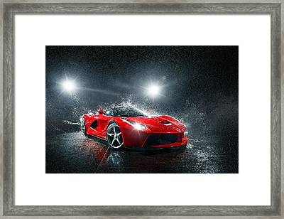 Laferrari Splash Framed Print