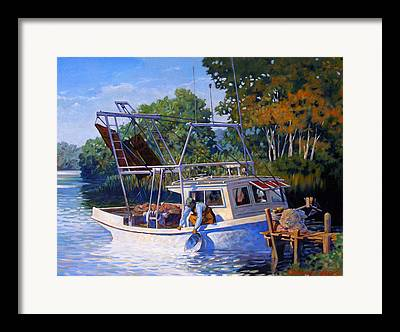 Skiffs Framed Prints
