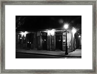 Lafittes Blacksmith Shop Bar Framed Print