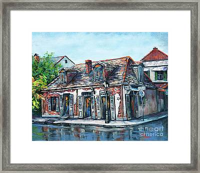 Lafitte's Blacksmith Shop Framed Print by Dianne Parks