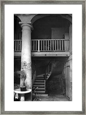 Lafittes Patio At The Absinthe House Framed Print