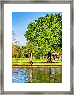 Lafreniere Park 2 - Paint Framed Print by Steve Harrington