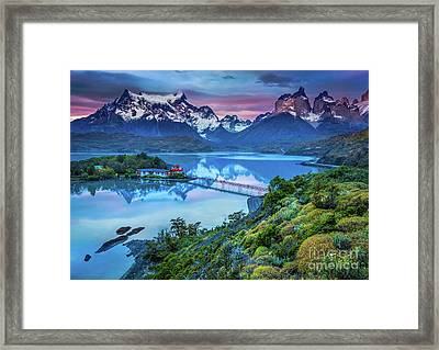 Lago Pehoe - March Framed Print by Inge Johnsson