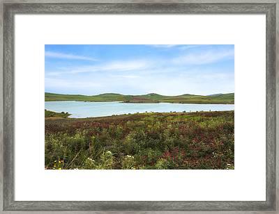Lago Rubino - Sicily Framed Print