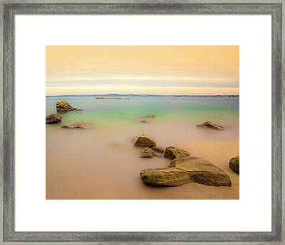 Lagon Breton Framed Print by Philippe Doucet