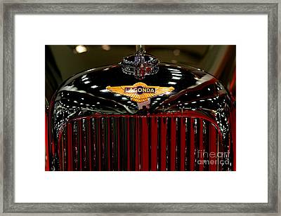 Lagonda Badge Framed Print by Wingsdomain Art and Photography