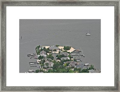 Lagoon Mantoloking New Jersey Framed Print