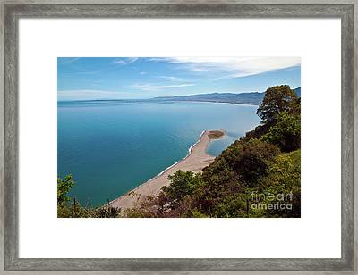 Lagoon Of Tindari On The Isle Of Sicily  Framed Print