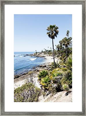 Laguna Beach California Heisler Park Framed Print by Paul Velgos