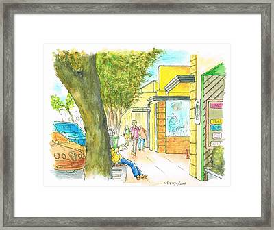 Laguna-beach-california-street Framed Print by Carlos G Groppa