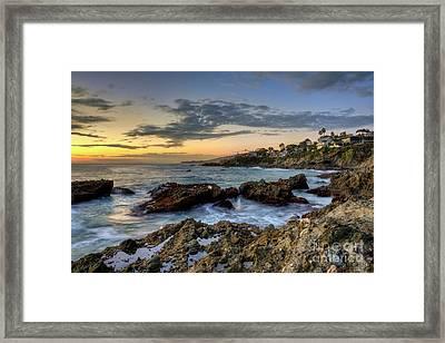 Laguna Beach Coastline Framed Print by Eddie Yerkish
