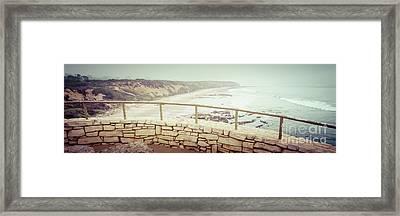 Laguna Beach Crystal Cove Overlook Panorama Framed Print by Paul Velgos
