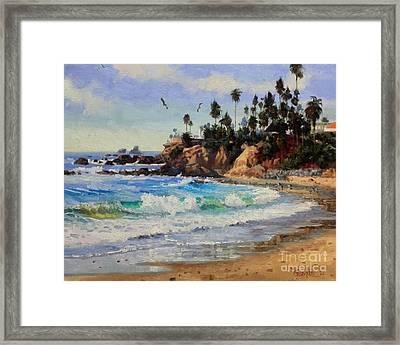 Laguna Beach  Framed Print by Gary Kim