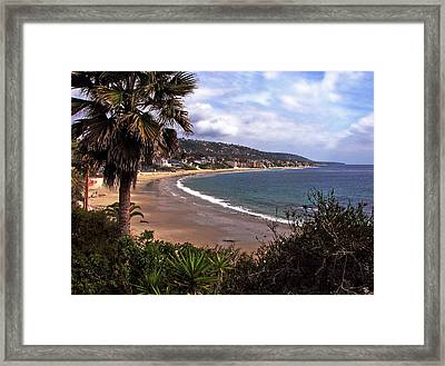 Framed Print featuring the photograph Laguna Beach by Joanne Coyle