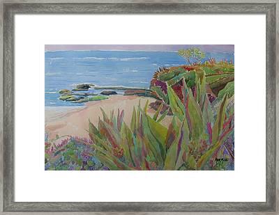 Laguna Beach Landscape Framed Print by Azor Martinez