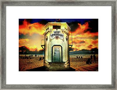 Laguna Beach Lifeguard Hq Framed Print