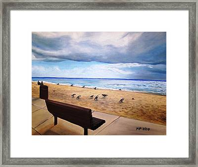Laguna Beach On A Stormy Day Framed Print by Madeleine Prochazka