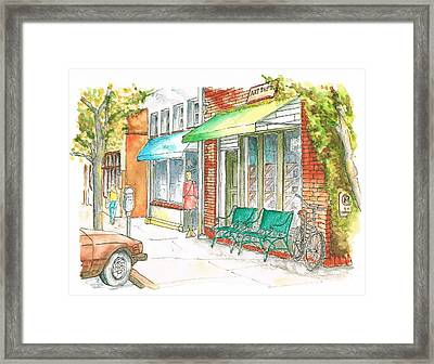 Laguna Beach Street, California Framed Print