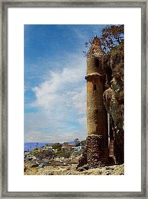 Framed Print featuring the photograph Laguna Beach Tower by Glenn McCarthy Art and Photography