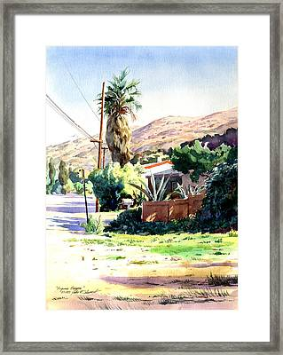 Framed Print featuring the painting Laguna Canyon Palm by John Norman Stewart