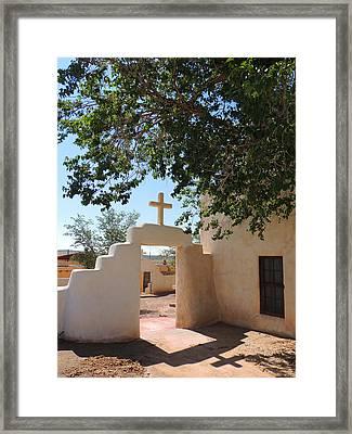 Laguna Mission Gate Framed Print by Gordon Beck