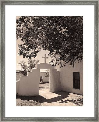 Laguna Mission Gate Monochrome Framed Print by Gordon Beck