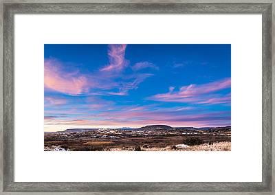 Laguna Pueblo Sunset Framed Print by Duane Miller