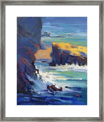 Laguna Rocks Framed Print