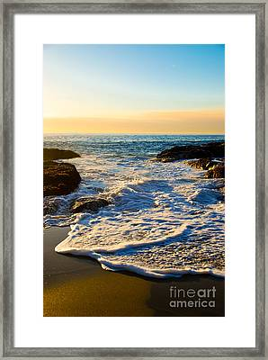 Laguna Sunset Framed Print by Kelly Wade
