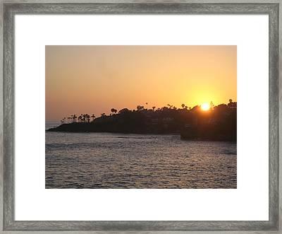 Laguna Sunset Framed Print by Renee Antos