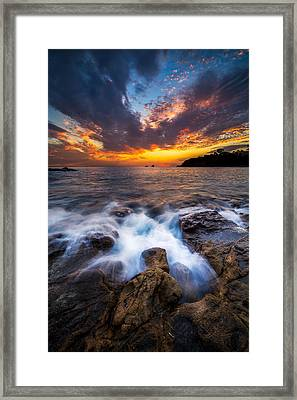 Laguna Tide Framed Print by Cole Pattschull