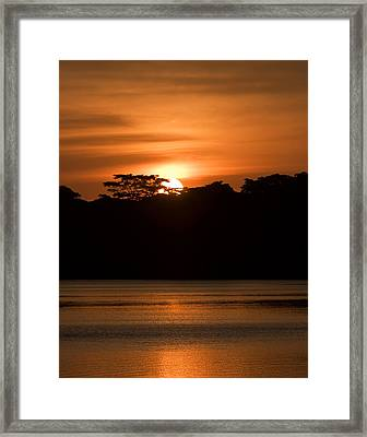 Laguna Victoria Sunset Framed Print
