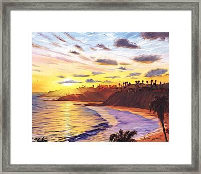 Laguna Village Sunset Framed Print
