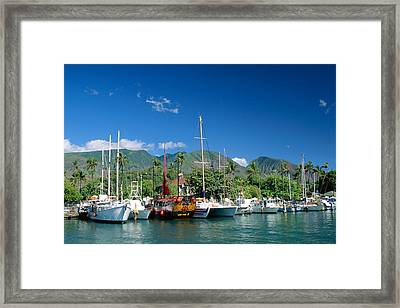 Lahaina Harbor - Maui Framed Print by William Waterfall - Printscapes