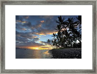 Lahaina Sunset Framed Print by James Roemmling