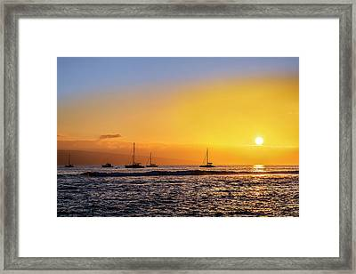 Lahaina Sunset Framed Print by Kelley King