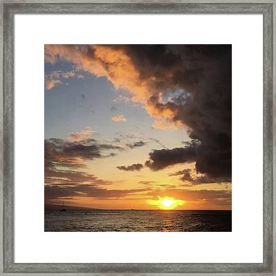Lahaina Sunset! Love Friday Nights! Framed Print