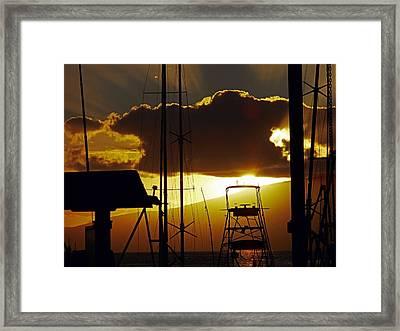 Lahaina Sunsets 5 Framed Print