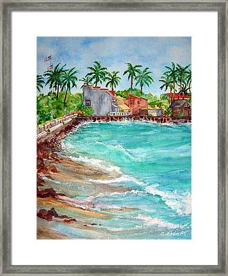 Lahina Bay Maui Framed Print by Cheryl Ehlers